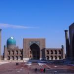 【ウズベキスタン09】サマルカンド観光前編 世界遺産レギスタン広場で学生ガイドさんに遭遇!思わずため息の出る美しさ。。