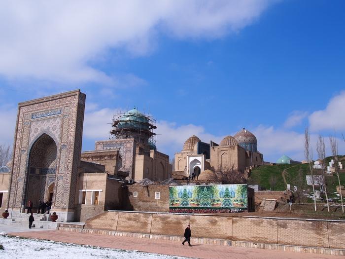 サマルカンド観光後編 でっかいモスクとたくさんのお墓、そして蘇ったサマルカンド・ペーパー (31)