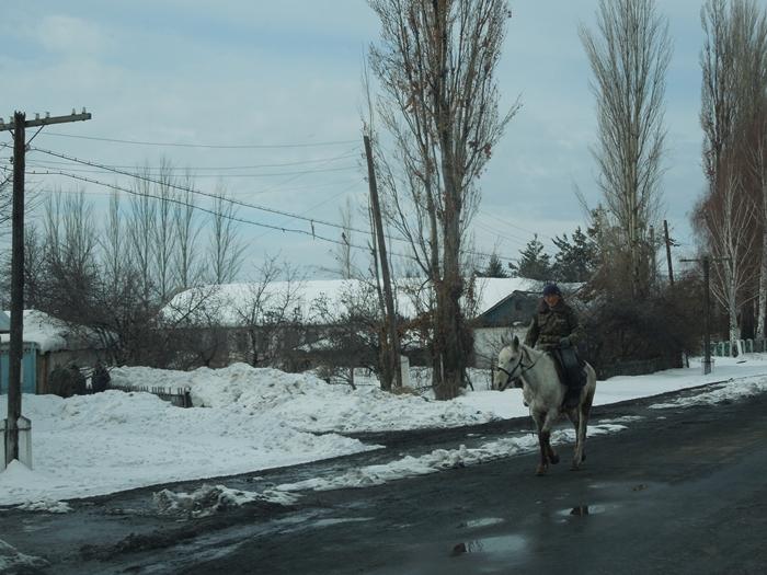 冬のイシククル湖へ!~チョルポン・アタの町より~ (15)