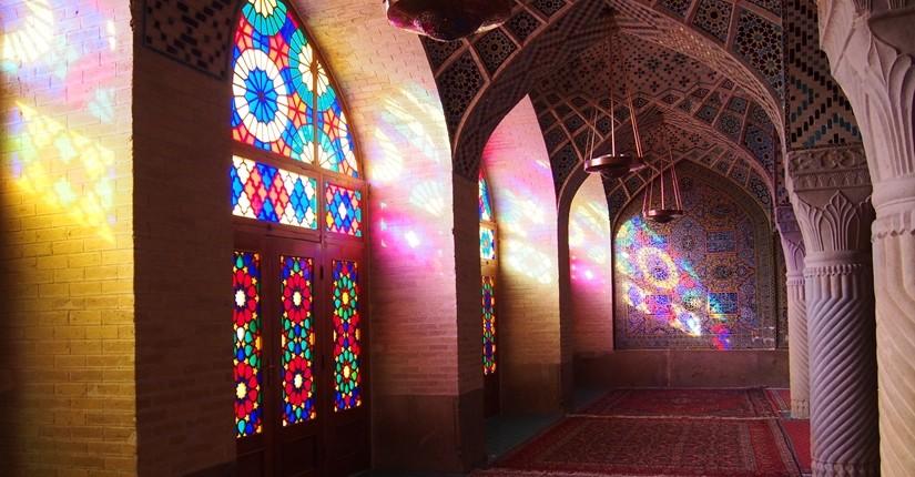 世界遺産より印象に残ったマスジェデ・ナスィーロル・モスク、別名ピンク・モスク。