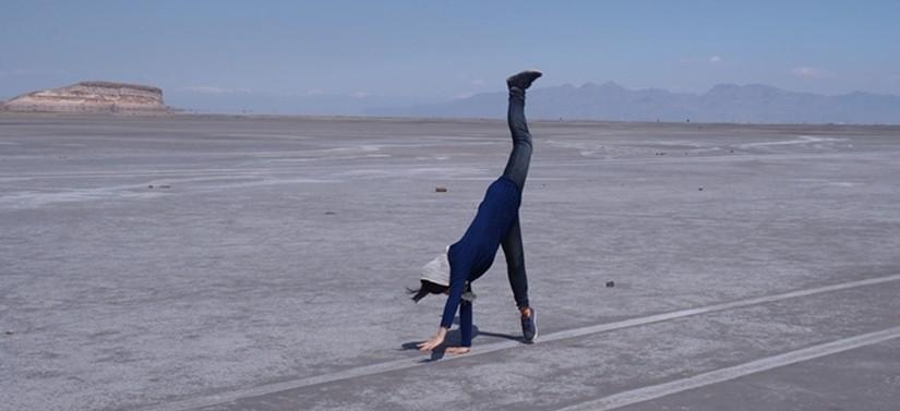 【イラン09 移動情報】タブリーズからオルミーイェ。塩湖で側転!