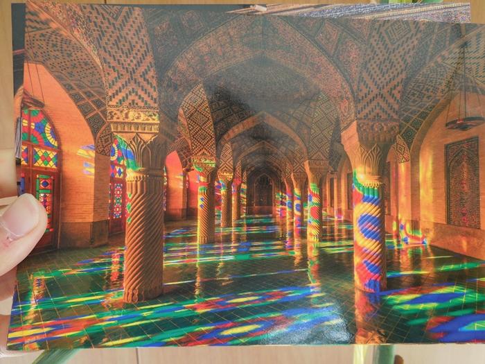 世界遺産より印象に残ったマスジェデ・ナスィーロル・モスク、別名ピンク・モスク。 (5)