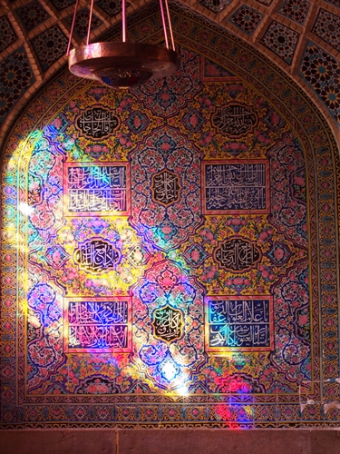 世界遺産より印象に残ったマスジェデ・ナスィーロル・モスク、別名ピンク・モスク。 (22)