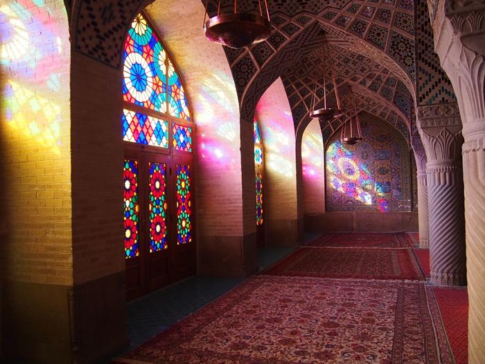 世界遺産より印象に残ったマスジェデ・ナスィーロル・モスク、別名ピンク・モスク。 (21)