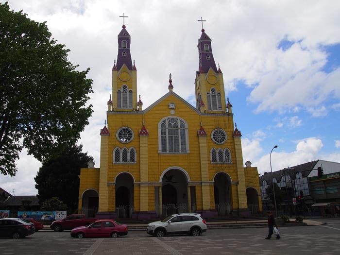 【チリ08 世界遺産】カラフルなカストロ(チロエ島)の町歩き (44)