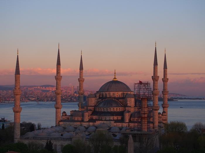 【トルコ03】夜のイスタンブール 眺めの良いレストラン発見! (21)
