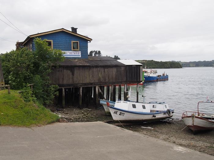 【チリ08 世界遺産】カラフルなカストロ(チロエ島)の町歩き (25)