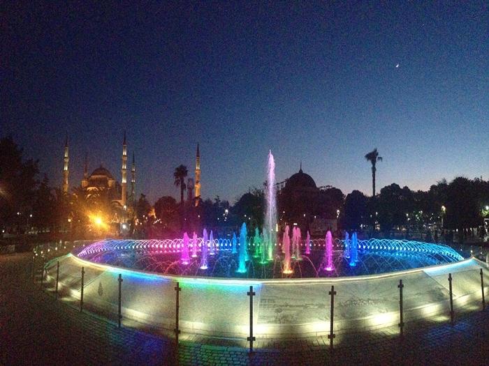 【トルコ03】夜のイスタンブール 眺めの良いレストラン発見! (14)