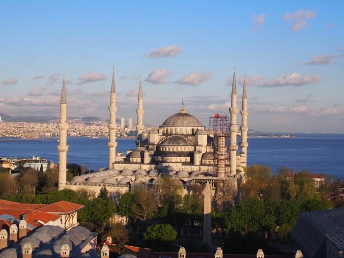 【トルコ03】夜のイスタンブール 眺めの良いレストラン発見! (19)