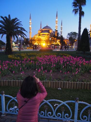 【トルコ03】夜のイスタンブール 眺めの良いレストラン発見! (27)