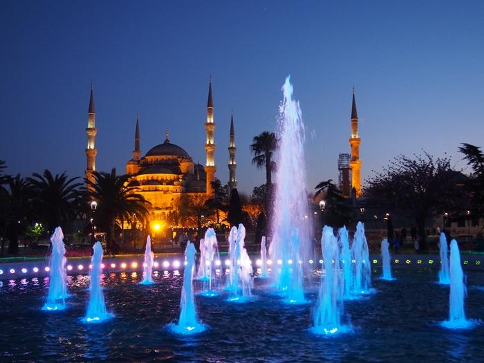 【トルコ03】夜のイスタンブール 眺めの良いレストラン発見! (28)