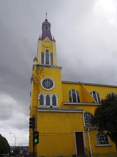 【チリ08 世界遺産】カラフルなカストロ(チロエ島)の町歩き (1)