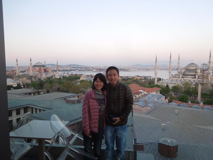 【トルコ03】夜のイスタンブール 眺めの良いレストラン発見! (8)