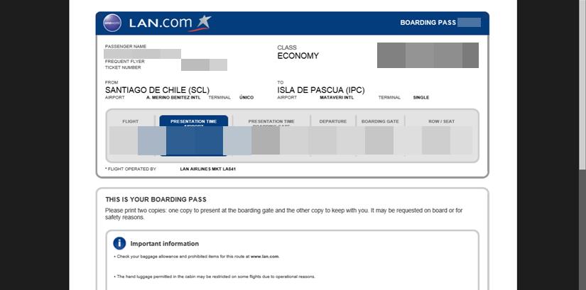 【チリ12】イースター島 準備編1 イースター島行きの航空券を安く買う方法 (2)