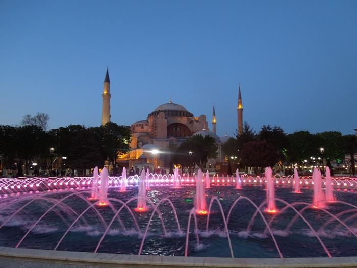 【トルコ03】夜のイスタンブール 眺めの良いレストラン発見! (9)