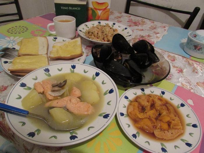 【チリ07】サーモン!ムール貝!!ウニ!!!チロエ島で海産物三昧の日々 (14)