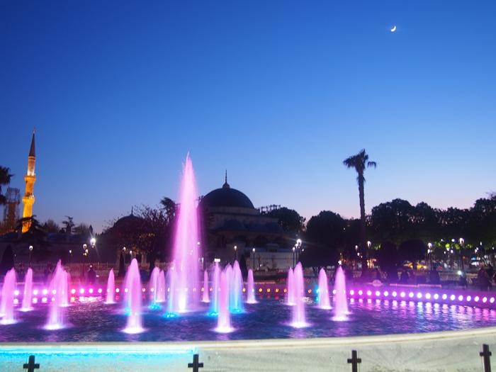 【トルコ03】夜のイスタンブール 眺めの良いレストラン発見! (30)