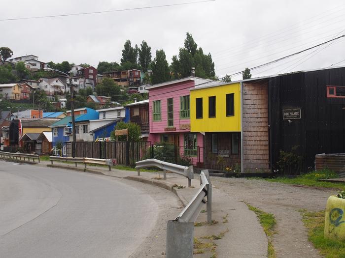 【チリ08 世界遺産】カラフルなカストロ(チロエ島)の町歩き (28)