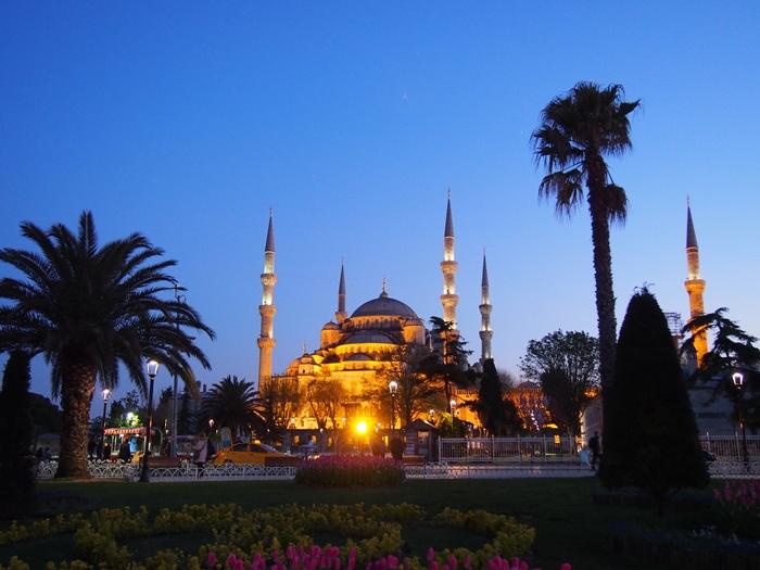 【トルコ03】夜のイスタンブール 眺めの良いレストラン発見! (26)