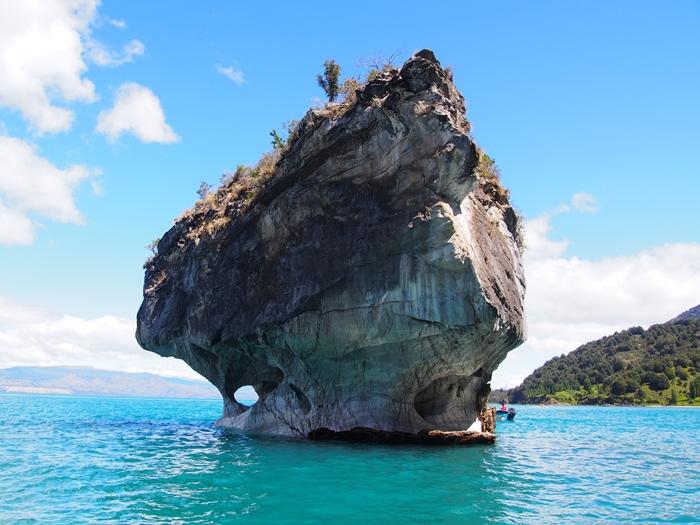 【チリ03】マーブルカテドラル 青く輝く大理石の洞窟 (37)