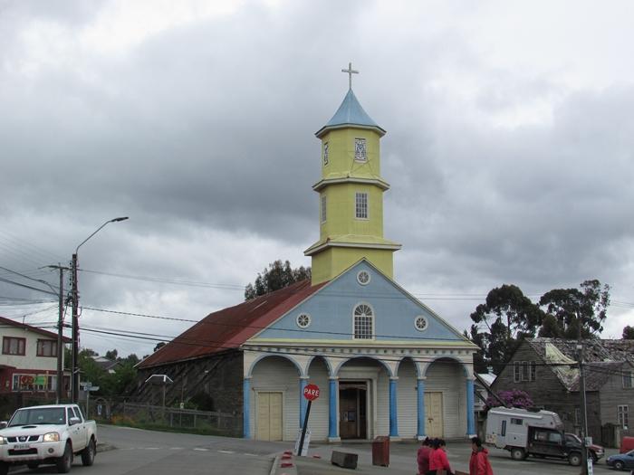 【チリ08 世界遺産】カラフルなカストロ(チロエ島)の町歩き (2)