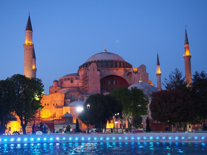 【トルコ03】夜のイスタンブール 眺めの良いレストラン発見! (25)