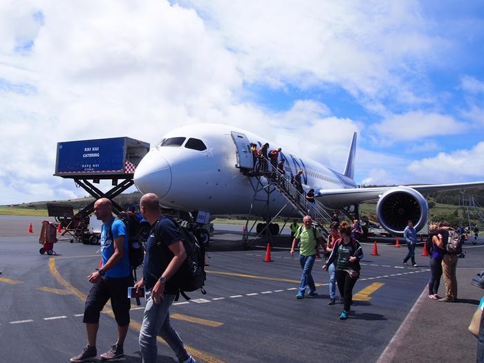 【チリ14 移動&空港泊情報】サンティアゴからイースター島 (12)