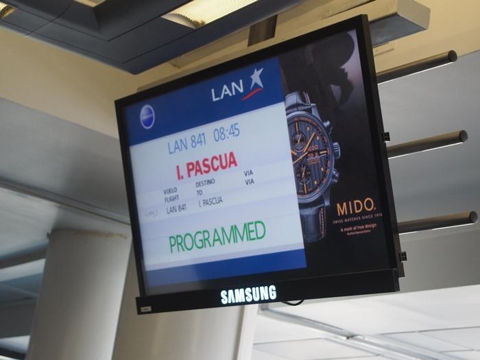【チリ14 移動&空港泊情報】サンティアゴからイースター島 (10)