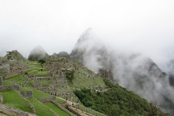 【ペルー06 世界遺産】雨降りしきる空中都市マチュピチュ (3)