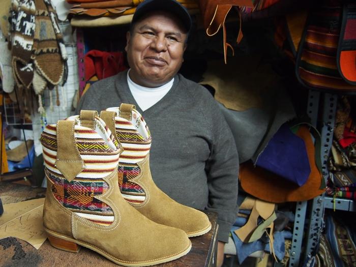 【ペルー14】クスコで自分だけの靴を作ってもらおう! (10)