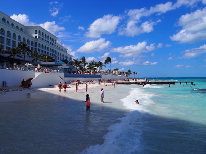 【メキシコ02】まだまだ寒い2月初旬のカンクン・ビーチ。お土産情報も。 (7)