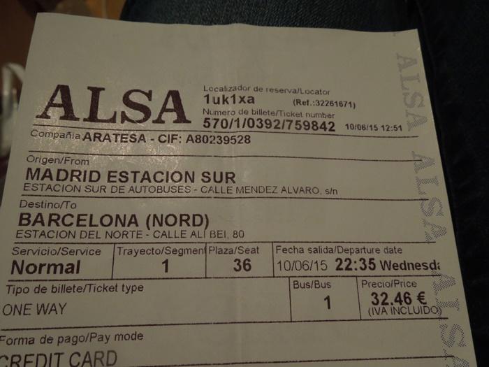 【スペイン04移動情報】マドリードからバルセロナ