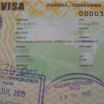 【ジンバブエ02 ビザ情報】ジンバブエ&ザンビア共通ビザUNIVISA@カズングラ/ボツワナ