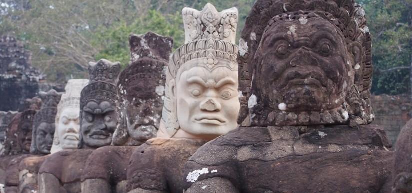 【カンボジア04】世界遺産アンコール遺跡群2 アンコールトム、そしてタプローム