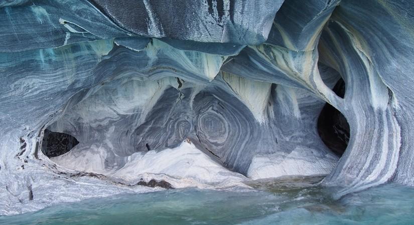 【チリ03】マーブルカテドラル 青く輝く大理石の洞窟